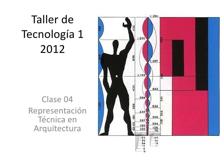 Taller deTecnología 1    2012    Clase 04 Representación   Técnica en  Arquitectura