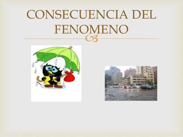  CONSECUENCIA DEL FENOMENO
