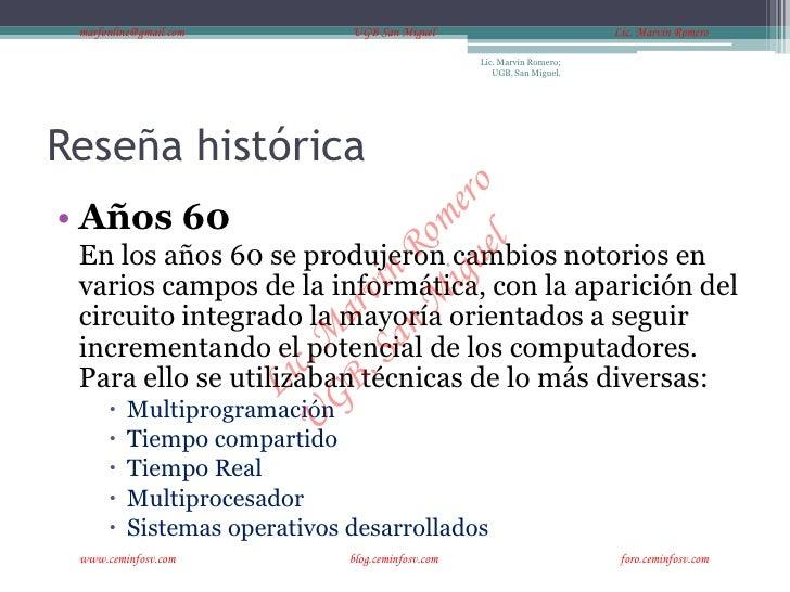 marfonline@gmail.com          UGB San Miguel                            Lic. Marvin Romero                                ...