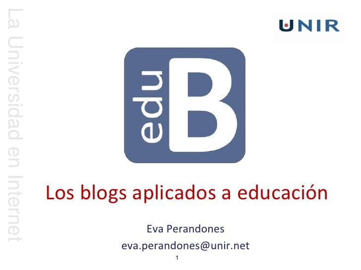 La Universidad en Internet                             Los blogs aplicados a educación                                    ...