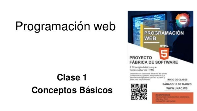 Programación web Clase 1 Conceptos Básicos