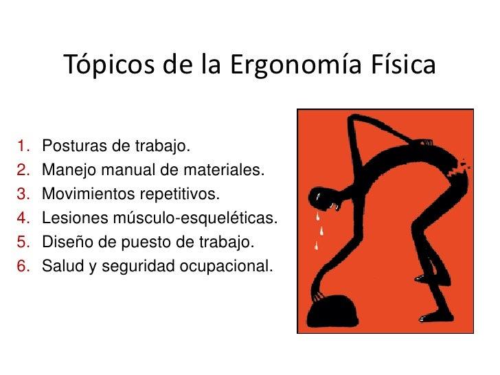 Clase 1 def ergonom a evolucion del trabajo for Caracteristicas de la ergonomia
