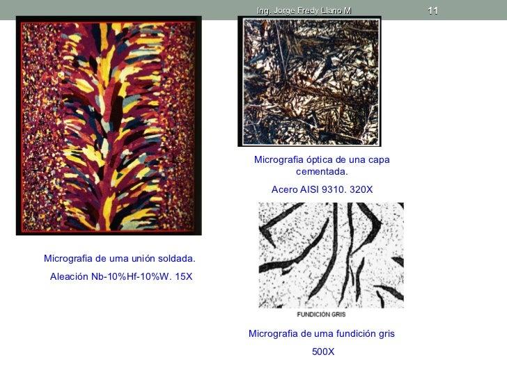Ing. Jorge Fredy Llano M           11                                     Micrografia óptica de una capa                  ...