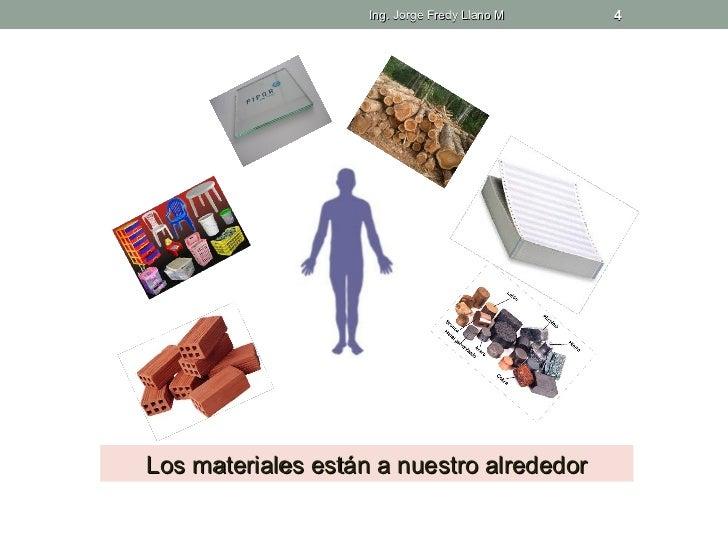 Ing. Jorge Fredy Llano M   4Los materiales están a nuestro alrededor