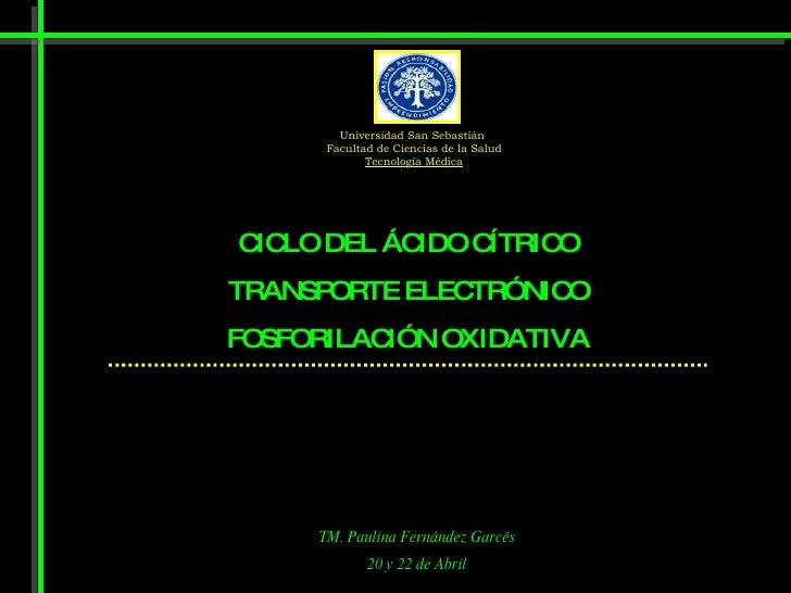 Universidad San Sebastián       Facultad de Ciencias de la Salud              Tecnología Médica     C LO DEL ÁC  IC       ...