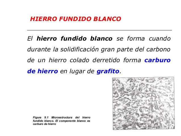 Clase 11 hierro fundido for Hierro fundido