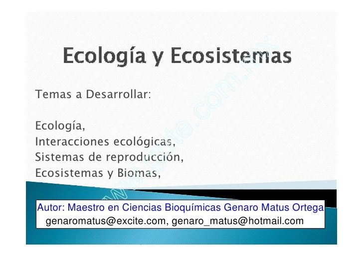 Clase 12 Ecosistemas
