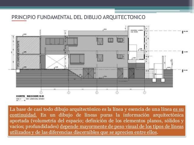 Clase 13 dibujo tecnico principios del dibujo arquitectonico for Planos tecnicos arquitectonicos