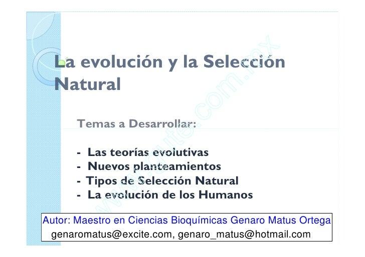 Clase 13 Evolución Y Selección Natural