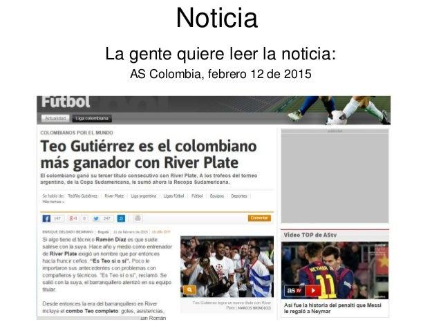 Noticia La gente quiere leer la noticia: AS Colombia, febrero 12 de 2015