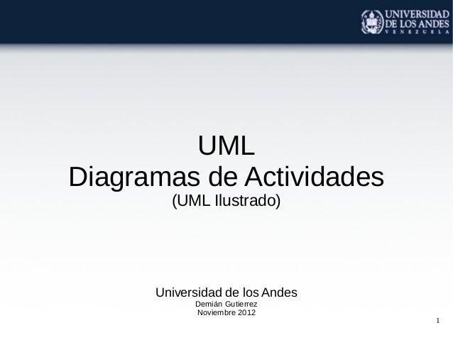 1UMLDiagramas de Actividades(UML Ilustrado)Universidad de los AndesDemián GutierrezNoviembre 2012