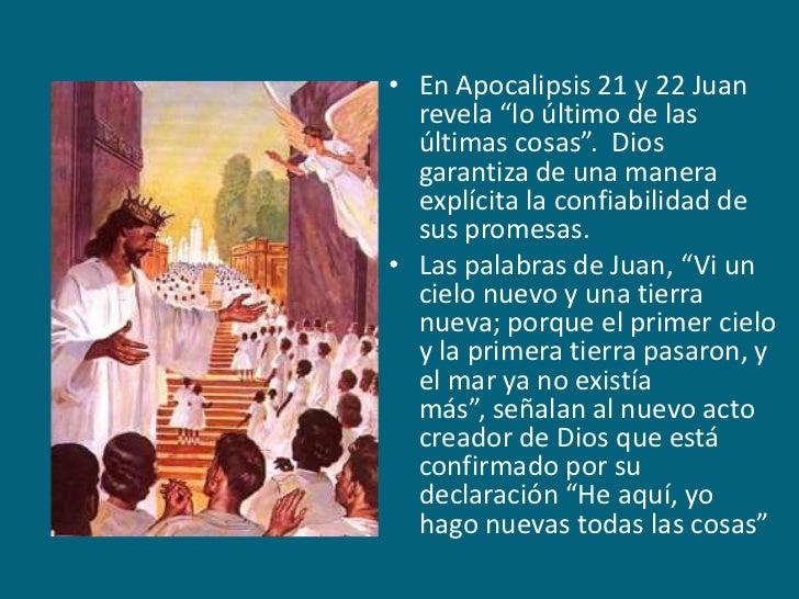 """En Apocalipsis 21 y 22 Juan revela """"lo último de las últimas cosas"""".  Dios garantiza de una manera explícita la confiabili..."""