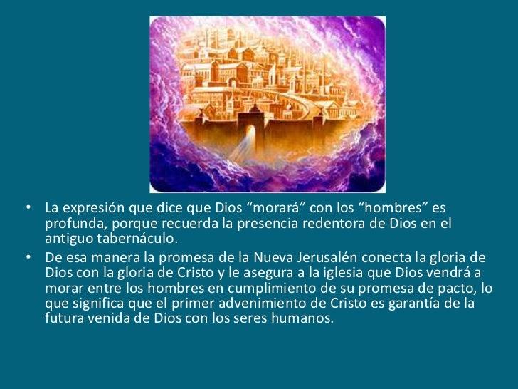 """La expresión que dice que Dios """"morará"""" con los """"hombres"""" es profunda, porque recuerda la presencia redentora de Dios en e..."""