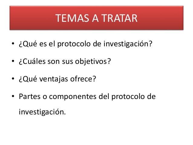 Clase 17 el protocolo de investigación Slide 2