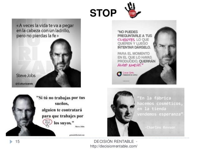 15 STOP DECISIÓN RENTABLE - http://decisionrentable.com/