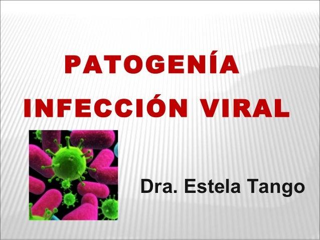 PATOGENÍAINFECCIÓN VIRAL      Dra. Estela Tango