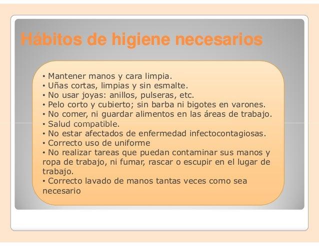 Clase 1 aplicaci n de normas y procedimiento de higiene for Normas de higiene personal en la cocina