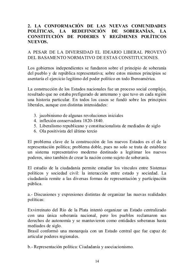 2. LA CONFORMACIÓN DE LAS NUEVAS COMUNIDADES POLÍTICAS, LA REDEFINICIÓN DE SOBERANÍAS, LA CONSTITUCIÓN DE PODERES Y REGÍME...