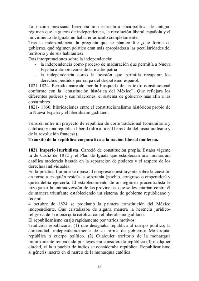 La nación mexicana heredaba una estructura sociopolítica de antiguo régimen que la guerra de independencia, la revolución ...