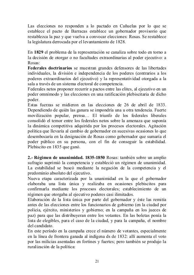 Las elecciones no responden a lo pactado en Cañuelas por lo que se establece el pacto de Barracas establece un gobernador ...