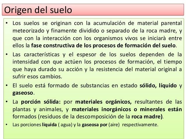 Clase 1 edafologia untec for Proceso de formacion del suelo