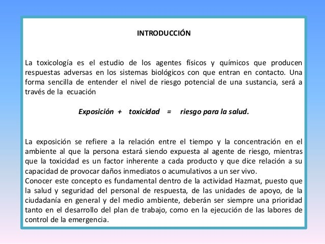TOXICOLOGIA- INTRODUCCION  Slide 3