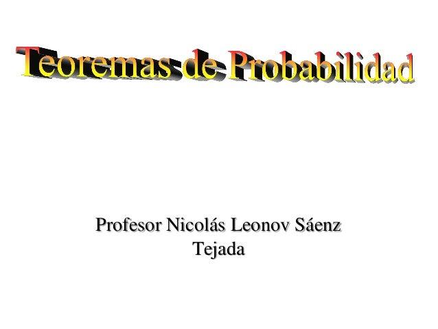 Profesor Nicolás Leonov Sáenz Tejada