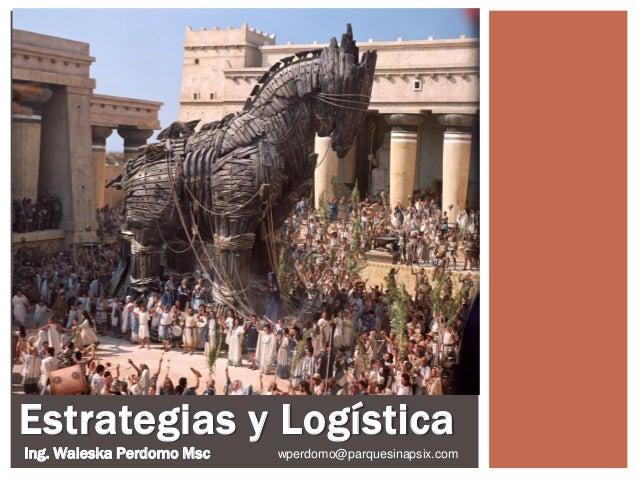 Estrategias y Logística Ing. Waleska Perdomo Msc wperdomo@parquesinapsix.com