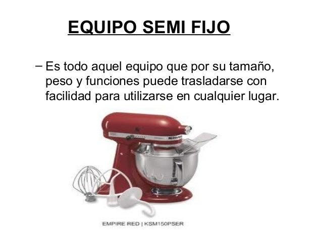 Clase de maquinaria for Utensilios de cocina y sus funciones pdf