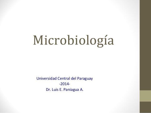 Microbiología Universidad Central del Paraguay -2014- Dr. Luis E. Paniagua A.