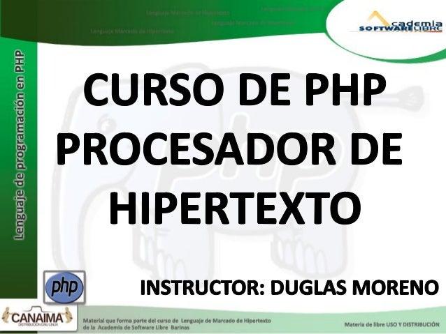 PHP Tools, FI, y PHP/FIPHP tal y como se conoce hoy en día es en realidad el sucesor de unproducto llamado PHP/FI. Creado ...