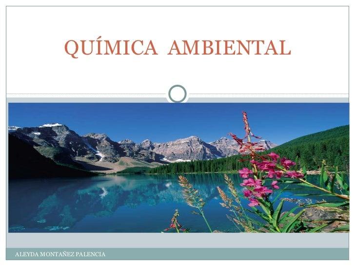 QUÍMICA  AMBIENTAL ALEYDA MONTAÑEZ PALENCIA