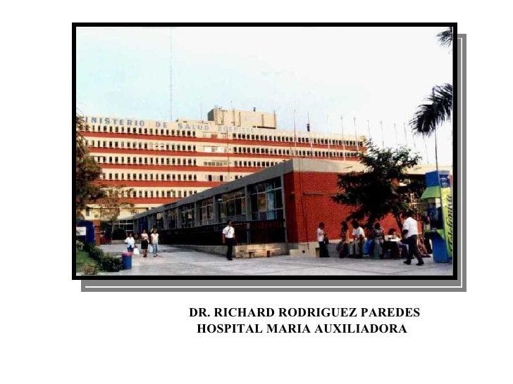 TUBERCULOSIS  DR. RICHARD RODRIGUEZ PAREDES HOSPITAL MARIA AUXILIADORA