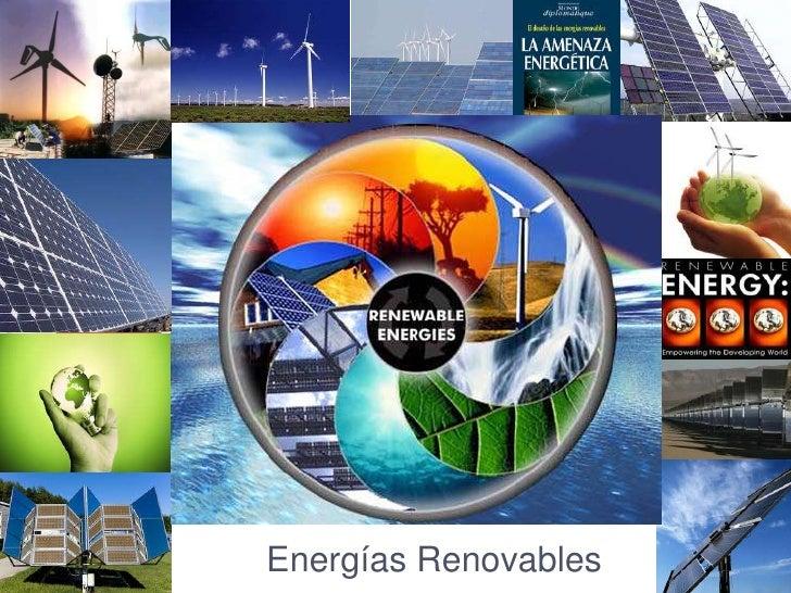 Clase 2 energ as convencionales - Fotos energias renovables ...