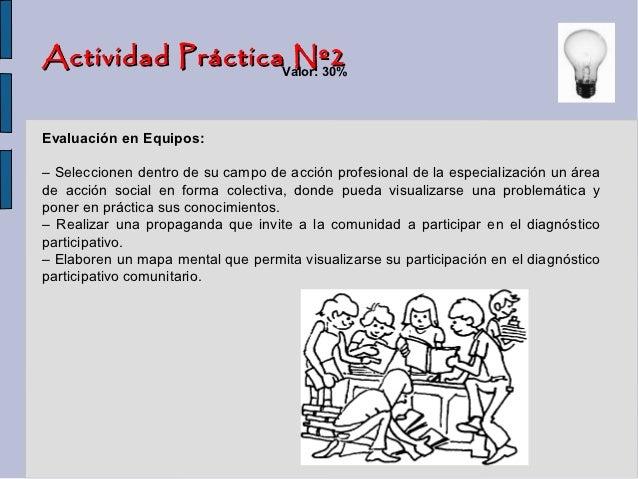 Actividad PrácticaValor: 30%                   Nº2Evaluación en Equipos:– Seleccionen dentro de su campo de acción profesi...