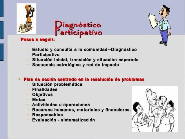 Diagnóstico                   Participativo•   Pasos a seguir:         Estudio y consulta a la comunidad--Diagnóstico     ...