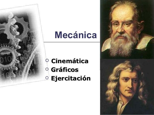 Mecánica   Cinemática   Gráficos   Ejercitación