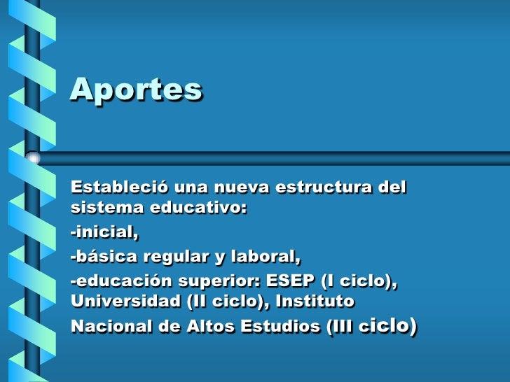 Clase 2   Politicas Educativas En El Perú En Los úLtimos Decenios Slide 3