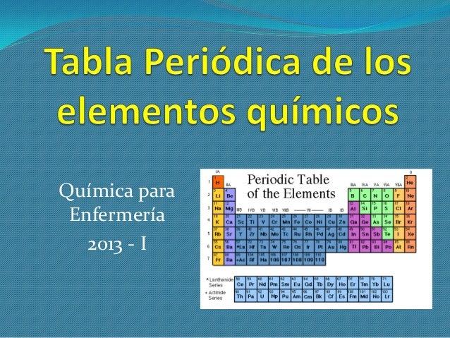 Clase 2 tabla peridica de los elementos qumicos clase 2 tabla peridica de los elementos qumicos qumica para enfermera 2013 urtaz Images