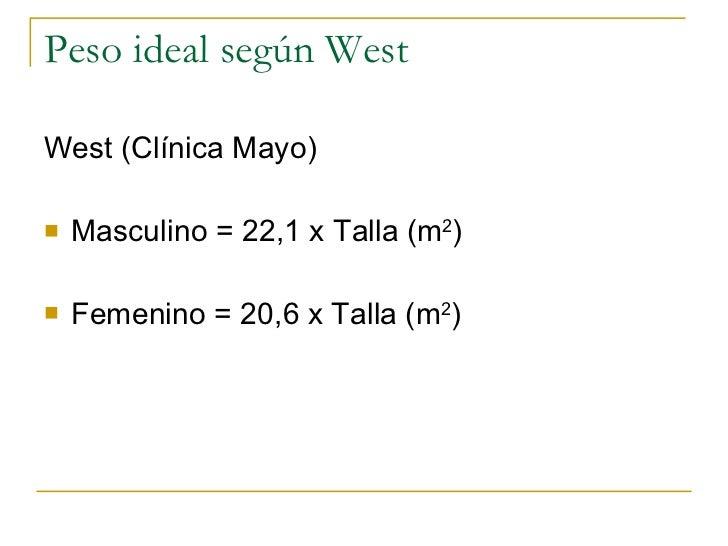 Peso ideal formula oms