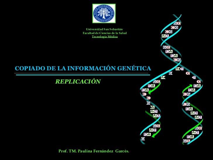 Universidad San Sebastián                       Facultad de Ciencias de la Salud                              Tecnología M...