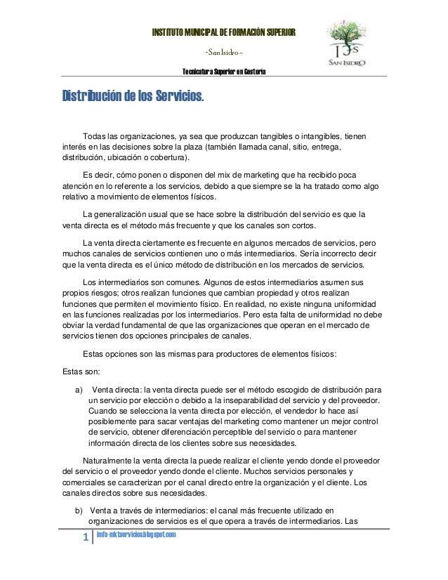 INSTITUTO MUNICIPAL DE FORMACIÓN SUPERIOR                                                     - San Isidro -              ...