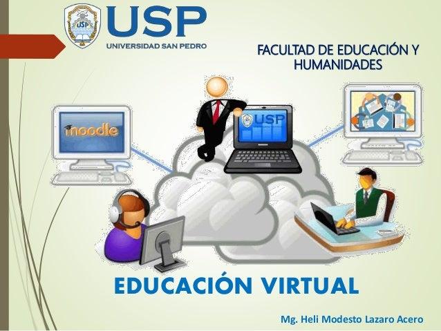 FACULTAD DE EDUCACIÓN Y HUMANIDADES EDUCACIÓN VIRTUAL Mg. Heli Modesto Lazaro Acero