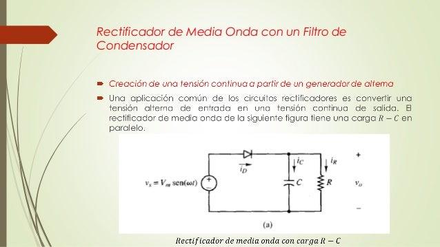 Circuito Rectificador De Media Onda : Clase rectificadores de media onda conceptos básicos