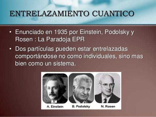 "Resultado de imagen de La paradoja de Einstein-Podolsky-Rosen, denominada ""Paradoja EPR"""