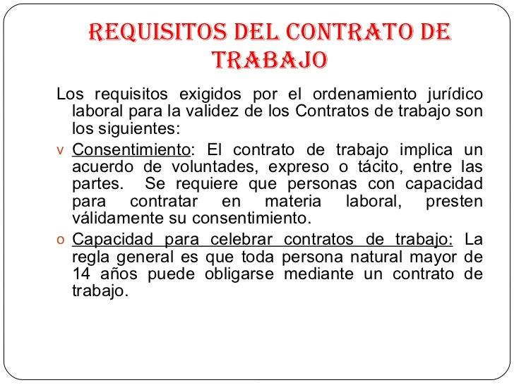 Derecho laboral Contrato laboral de trabajo