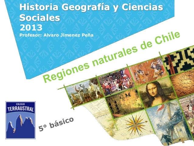 Historia Geografía y CienciasSociales2013Profesor: Alvaro Jimenez Peña