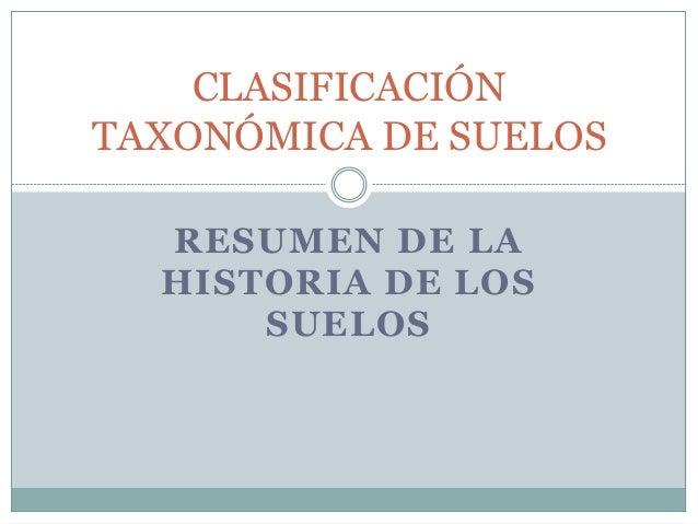 Clasificaci n taxon mica de los suelos for Caracteristicas de los suelos