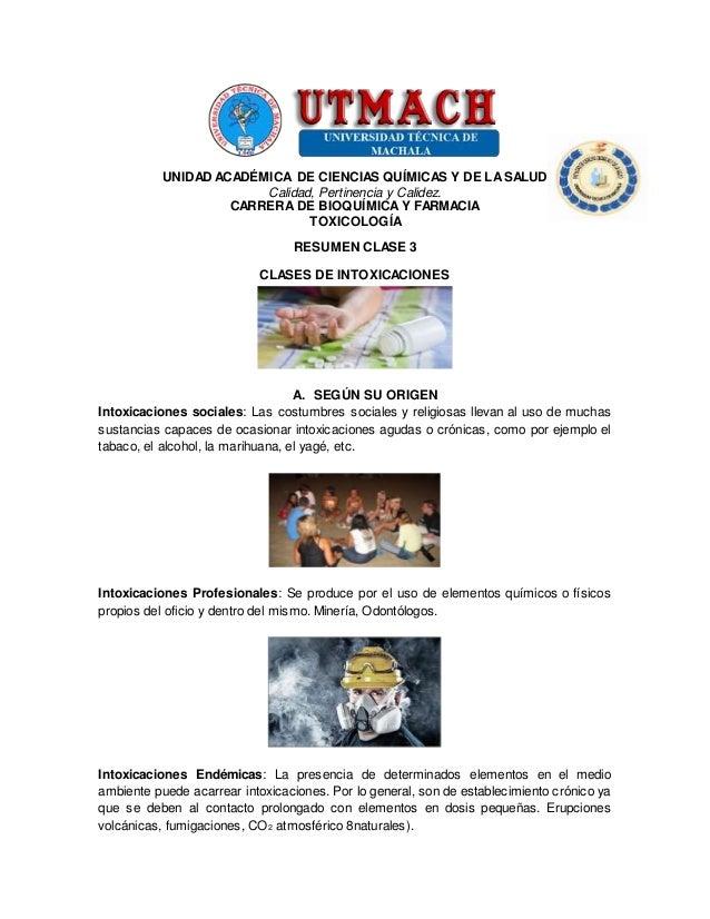 UNIDAD ACADÉMICA DE CIENCIAS QUÍMICAS Y DE LASALUD Calidad, Pertinencia y Calidez. CARRERA DE BIOQUÍMICAY FARMACIA TOXICOL...
