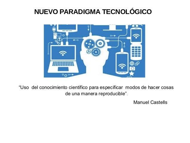 """""""Uso del conocimiento científico para especificar modos de hacer cosas de una manera reproducible"""". NUEVO PARADIGMA TECNOL..."""
